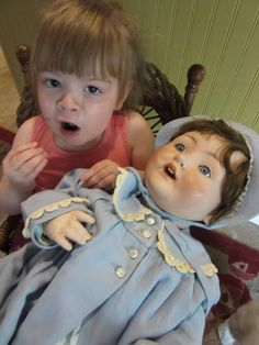"""28"""" Antique Very Large German Baby from onceagainantiques on Ruby Lane"""