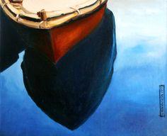 """Łódka"" 2015, olej na płótnie, 54x65 kasianowakowska.pl #painting #art #artwork #nowakowska"