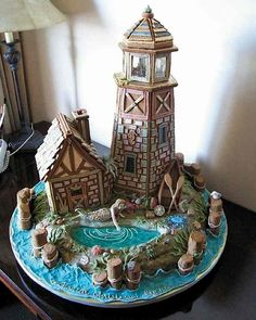 Time for my annual roundup of amazing gingerbread houses! Starting with a gingerbread light hous...