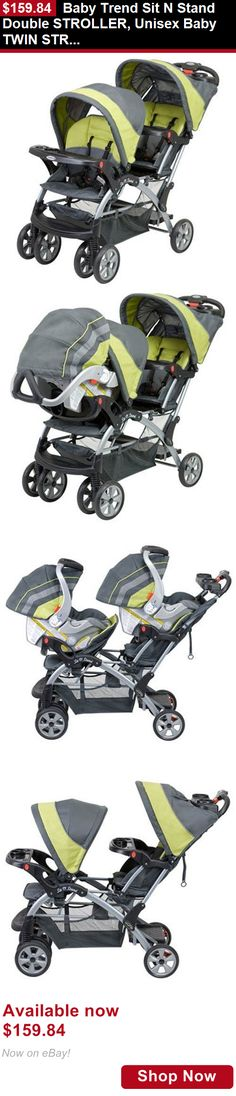 Strollers: Baby Trend Sit N Stand Double Stroller, Unisex Baby Twin Stroller, Carbon BUY IT NOW ONLY: $159.84