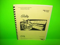 Bally RAPID FIRE 1982 ORIGINAL Pinball Machine SERVICE MANUAL With Schematics NM #Bally #RapidFire #PinballManual