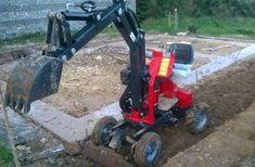 Yard Tractors, Homemade Tractor, Mini Excavator, Metal Shop, Cool Technology, Digger, Commercial Vehicle, Go Kart, Garden Landscaping