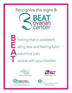 Become knowledgable of the Warning signs of ovarian cancer. Teal to heal. <3