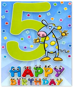 Birthday Cards for 5 Year Olds Lovely Happy Birthday Wishes for 5 Year Old Boy or Girl