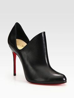 Most beautiful shoes ever - Christian Louboutin - Leather Cutout Ankle Boots