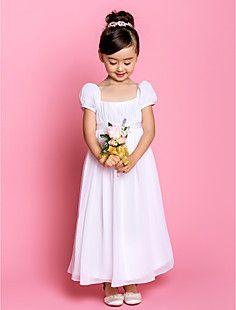Sheath/Column Square Ankle-length Chiffon Flower Girl Dress ... – USD $ 99.99