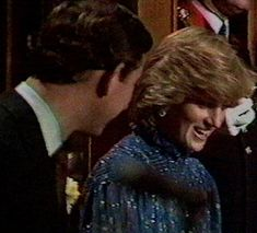Charles and Diana c1981. Right after her her first speech - in Welsh & English. Wales.