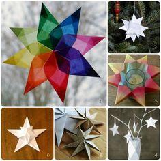 Dekoration-Weihnachten mit Sternen-Ideen Christbaum-Tisch Schmücken