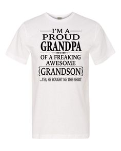 I'm A Proud Grandpa Of A Freaking Awesome Grandson Unisex Shirt - Proud Grandpa Shirt - Grandpa Gift by FamilyTeeStore on Etsy