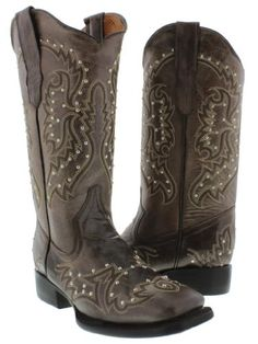 Cowboy Professional - Womens Wide Brown Genuine Classic Leather Cowboy Boots with Silver Studded Square Toe Size 8.5 Cowboy Professional Boot Company http://www.amazon.com/dp/B00EZ83WYY/ref=cm_sw_r_pi_dp_f.lbub0FMHCYK