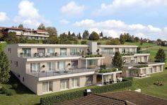 Visualisierungen Architektur: STOMEO Architektur Visualisierung - Zürich Style At Home, Mansions, House Styles, Home Decor, Architecture Visualization, Human Settlement, Real Estates, Floor Layout, House