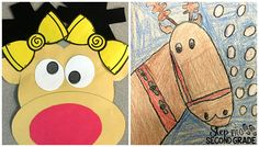 Reindeer Ruckus: Students learned all about reindeer before creating these CUTE little reindeer.