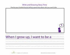 Worksheets: Practice Handwriting: Careers