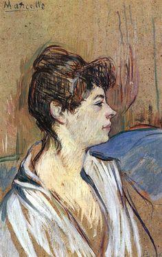 Marcelle. Toulouse-Lautrec. 1894. Oil on cardboard.  47 x 30 cm. Musée Toulouse-Lautrec. Albi.