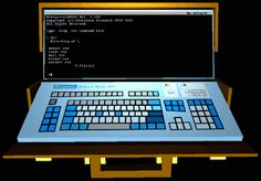 Quadrilateral Cowboy. A desktop hacking sim with NESTED desktop hacking sims.