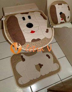 Jogo de banheiro cachorro