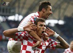 Mario Mandzukic, another 3-goal scorer on EURO. Italy vs Croatia 1:1