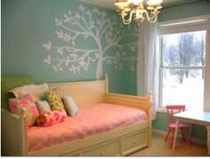 blue green and pink kids room - Google Search