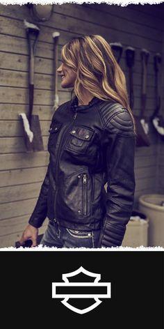 Denim done better. | Harley-Davidson Women's Quilted Coated Denim Riding Jacket