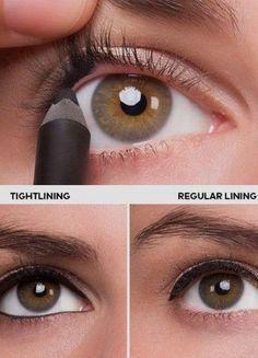 Brown Eyeliner White Sparkly Eyeshadow Best Liquid Eyeliner