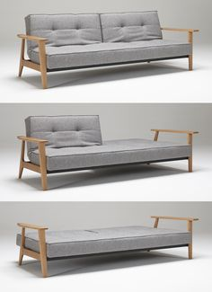 The Splitback sofa with frej arms by Innovation Living USA is a comfortable tufted sofa by day and supportive sleeper sofa by night Mid Century Sofa Bed, Sleeper Sofa, Sofa Beds, Bed Furniture, Furniture Ideas, Buy Furniture Online, Tufted Sofa, Guest Bed, Modular Design