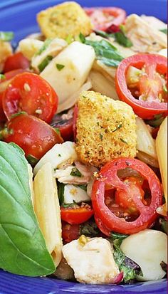 Bruschetta Chicken and Pasta Salad Recipe