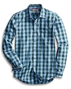 Smeiling Men Casual Checkered Buffalo Plaid Slim Fit Long-Sleeve Casual Shirts