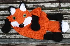 Fox lovey blanket crochet pattern (not free)