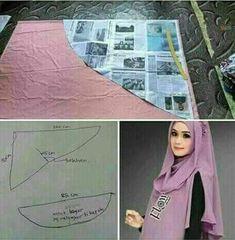 Diy Fashion Hijab, Niqab Fashion, Hijab Style Dress, Cape Designs, Stylish Hijab, Big Dresses, Hijab Tutorial, Designs For Dresses, Poncho