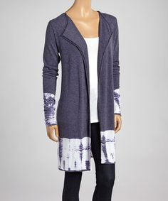 Another great find on #zulily! Gravel Tie-Dye Open Cardigan by Hodges Collection #zulilyfinds