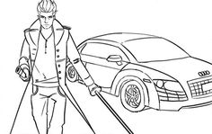 devil may cry coloring pages - photo#29