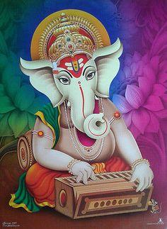 Make this Ganesha Chathurthi 2020 special with rituals and ceremonies. Lord Ganesha is a powerful god that removes Hurdles, grants Wealth, Knowledge & Wisdom. Clay Ganesha, Shri Ganesh, Ganesha Art, Krishna Art, Ganesha Drawing, Lord Ganesha Paintings, Krishna Painting, Ganesh Bhagwan, Photo Art Gallery