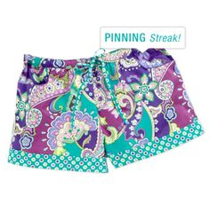 New favorite pattern! Must have these shorts. And everything else.... Getting to bed set next week!