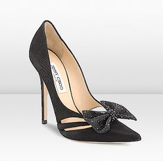 Pre-Fall 2012: TARIKA a sexy cut out high heel adorned with a hotfix crystal bow, perfect for a feminine evening look.