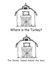 free printable turkey positional words book via www.pre-kpages.com