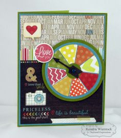March SOTM Love Spinner Card by Kendra Wietstock #Cardmaking #ValentinesLove, #StampoftheMonth, http://tayloredexpressions.com/kits.html