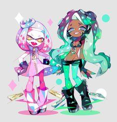 """アマクサ en Twitter: """"テン… """" Splatoon Squid, Nintendo Splatoon, Splatoon Comics, Metroid, Marina Splatoon, Pearl And Marina, Sweet Drawings, Art Drawings, Another Anime"""
