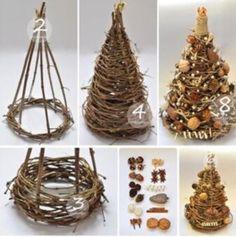 Christmas Tree Crafts, Handmade Christmas Decorations, Rustic Christmas, Christmas Projects, Simple Christmas, Holiday Crafts, Christmas Holidays, Christmas Wreaths, Christmas Gifts
