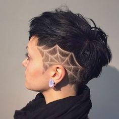 hair tattoo for women Shaved Hair Designs hair tattoo WOMEN Short Hair Updo, Short Hair Cuts, Short Hair Styles, Short Shaved Hair, Shaved Hair Women, Undercut Hairstyles, Trendy Hairstyles, Wedding Hairstyles, Girls Shaved Hairstyles