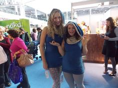 Lovely in their Canopy Multi-way Tunics , two happy OmniLadies - at the Yoga Show, London, 2013