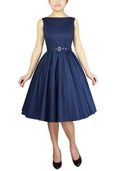 Blue Plus Size Pin Up Clothing Dresses Vintage Reproduction 1950s Dress