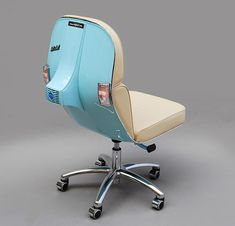 If Vespas are the hipsters of the scooter world then these Scooter Chairs are definitely the hipsters of the office-chair world.