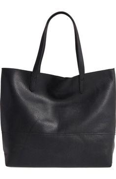 Main Image - Sole Society Oversize Faux Leather Shopper Oversized Handbags cc0d276524de2