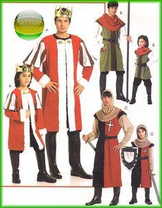 Mens Medieval King Knights Templar Crusader Patterns