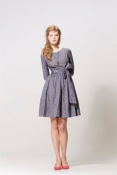what a perfect run around town in the fall dress, just add tights when cold.  from mrspomeranz