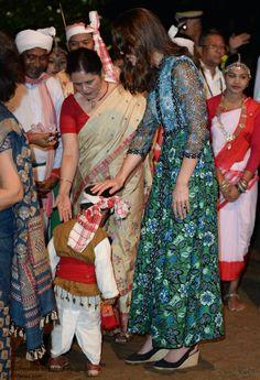Duchess Kate: Kate in Colourful Anna Sui Maxi Dress for Kaziranga National Park Festival