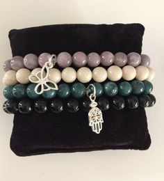 Bracelet, minerals, beads, Fashion, top trendy, must have , onyx, marble, silver, Fatima, butterfly.