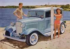 "Hot rod in street - Vintage pics - ""Photos rétros"" - - Page 5 Retro Cars, Vintage Cars, Antique Cars, Classic Hot Rod, Classic Cars, Old Hot Rods, Sweet Cars, Drag Cars, Street Rods"