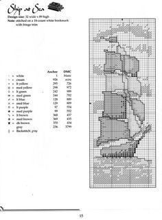 Cross-stitch Ship at Sea Bookmark.ru / Фото - 20 - tan-go Cross Stitch Bookmarks, Cross Stitch Books, Crochet Bookmarks, Cross Stitch Love, Cross Stitch Borders, Cross Stitch Kits, Cross Stitch Charts, Cross Stitching, Cross Stitch Embroidery