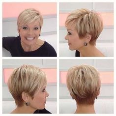 short haircuts for fine hair over 50 - Google Search